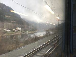 Das Elbtal präsentiert sich nebelverhangen und wildromantisch.